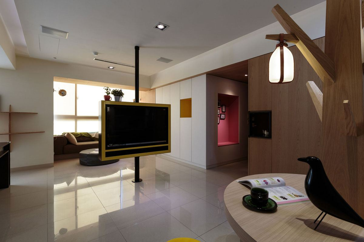 Un appartement design taiwan meubles for Meuble design